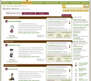 Consumersearch test af blendere