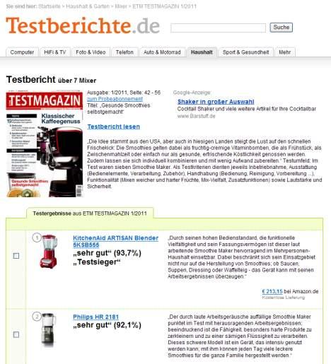 Tysk testvinder: KitchenAid ARTISAN Blender 5KSB555